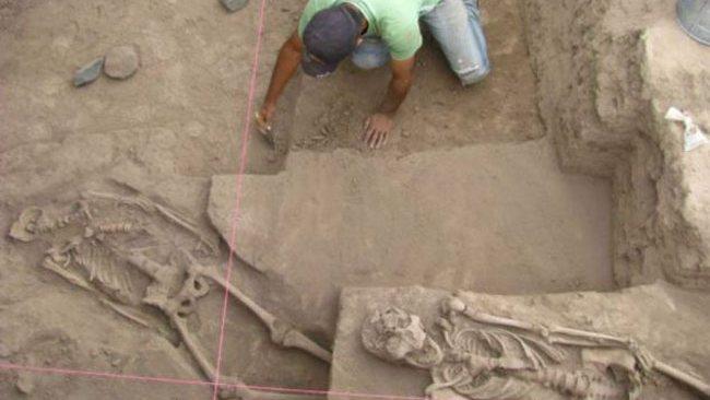 Il sito archeologico a Sonora, Messico