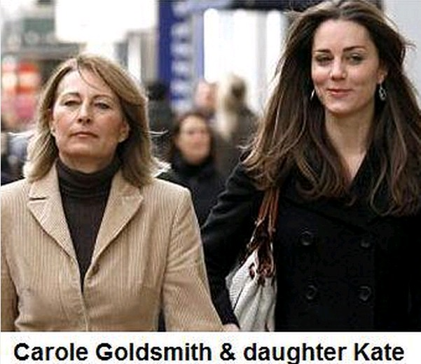 Kate Middleton con sua madre ebrea