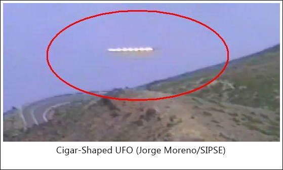 Cigar Shaped UFO Yucatan